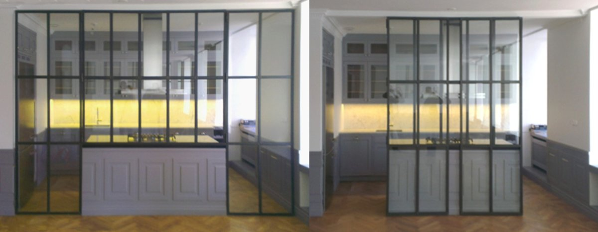 Glasvägg kök